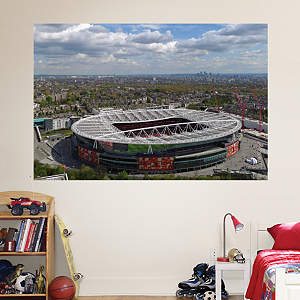 Aerial Emirates Stadium Mural Fathead Wall Decal